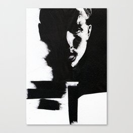 Man in black Canvas Print