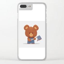 Killer bear Clear iPhone Case