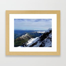 Switzerland: Jungfrau Ice and Mountains Three Framed Art Print