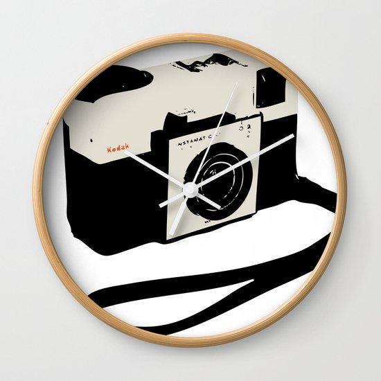 ivory kodak instamatic camera Wall Clock