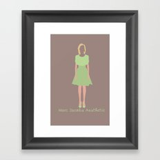 Marc Jacobs Aesthetic Framed Art Print