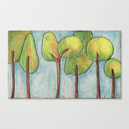 Lollipop Trees 2 Canvas Print