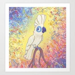 Clever Little Cockatoo Art Print