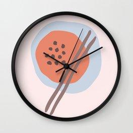 Frugal Food Blue Retro Wall Clock