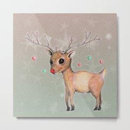 Cute Reindeer Metal Print