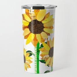 Sunflower Collage Travel Mug