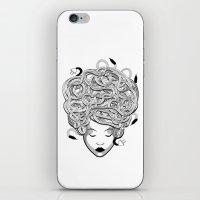 medusa iPhone & iPod Skins featuring Medusa by Nina Martinez