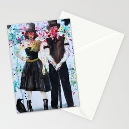 SteamPunk Couple Stationery Cards
