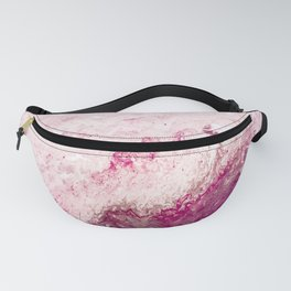 Pink Acrylic Flow Abstract Fanny Pack