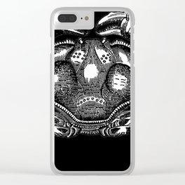 Cool Aqua animal Crab Sketch design Clear iPhone Case