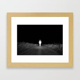 Serie #autoportrait // Black and White Version // France, 2013 Framed Art Print