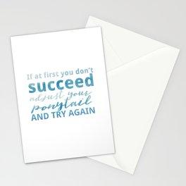 Adjust Your Ponytail Stationery Cards