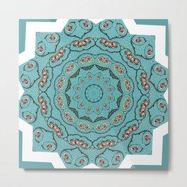 Patchwork Blue Metal Print