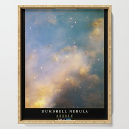 NASA Hubble Space Telescope Poster - The Dumbell Nebula Serving Tray