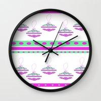 scandinavian Wall Clocks featuring Scandinavian Prints. by liz faulkner designs