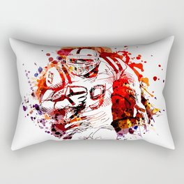 Color illustration of American football player Rectangular Pillow