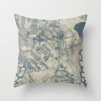 shells Throw Pillows featuring Shells by Laura Braisher