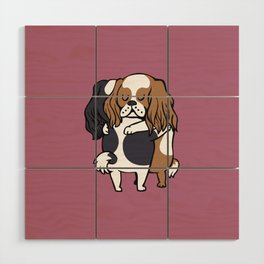 Cavalier King Charles Spaniel hugs Wood Wall Art