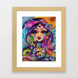 Goddess Underwater Framed Art Print