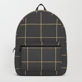 Gold grid pattern Backpack