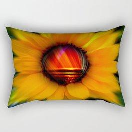 Sunflower -sunse Rectangular Pillow