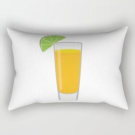 Tequila Shot Illustration Rectangular Pillow