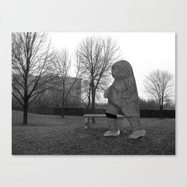 Grey Area Canvas Print