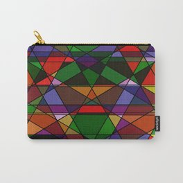 Stain Glass Mosaic Dark Carry-All Pouch