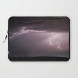 Summer Lightning Storm On The Prairie VI - Nature Landscape Laptop Sleeve