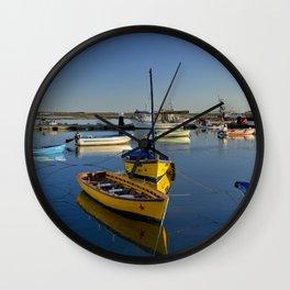 Santa Luzia boats, the Algarve, Portugal Wall Clock