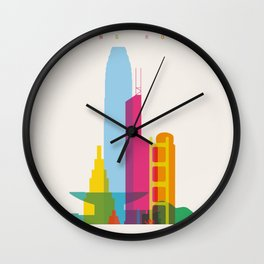 Shapes of Hong Kong. Accurate to scale Wall Clock