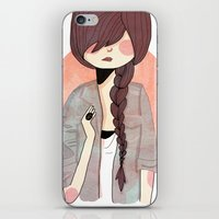 nan lawson iPhone & iPod Skins featuring Some Fashion by Nan Lawson