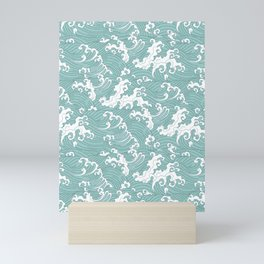 Traditional Hand Drawn Japanese Wave Ink Mini Art Print