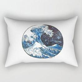 The Midnight Wave Rectangular Pillow