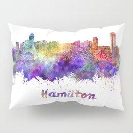 Hamilton skyline in watercolor Pillow Sham
