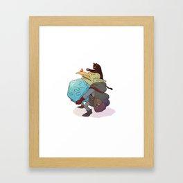 Goblin and his cat Framed Art Print