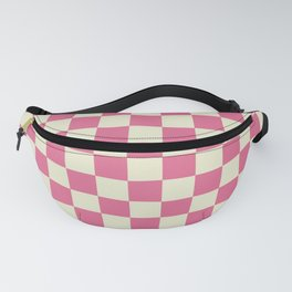 pink chess - pink and white Fanny Pack
