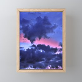 Clouds - Twilight Summer #1 #sunset #decor #art #society6 Framed Mini Art Print