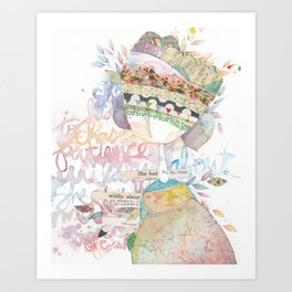 wildly about. Art Print