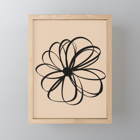 Abstract Flower Black Beige by eze