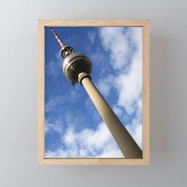 Berlin Fernsehturm Bild - Berlin TV Tower Framed Mini Art Print