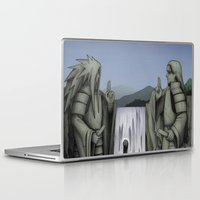 sasuke Laptop & iPad Skins featuring Naruto vs Sasuke by Daniel Sangil