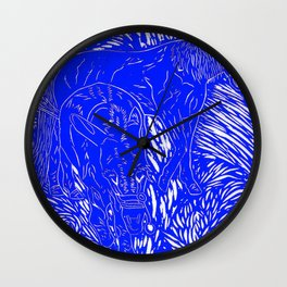 Abstract Buford Charging Wall Clock