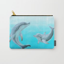 Dolphins Swimming in the Ocean Carry-All Pouch