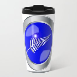 Silver Fern Button Travel Mug