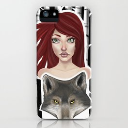 Inner Wolf iPhone Case