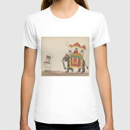 Decorated Indian Elephant with a Canopied Howdah T-shirt