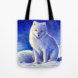 Peaceful Winter Arctic Fox Tote Bag