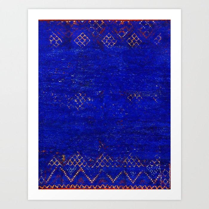 -A5- Royal Calm Blue Bohemian Moroccan Artwork. Kunstdrucke