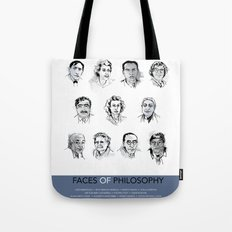 MAP Faces of Philosophy Poster Tote Bag